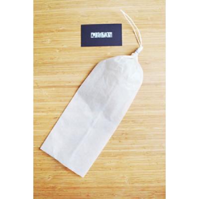 Карман для колбасы фиброуз., белый, калибр 75 мм, длина 31 см, клипса с петлей - 1 шт.